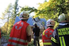 Brand einer Almhütte am Kollmannsberg