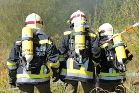 Ernstfall in Ohlsdorfer Reifendeponie