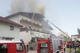 Annerlhof in Traunkirchen in Vollbrand