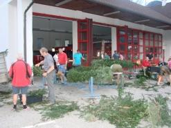 Maibaum-Aufstellen der Feuerwehr Scharnstein