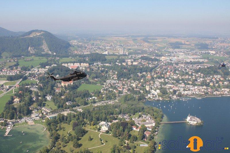 Sikorsky S-65 bei den Helidays 2013 gelandet