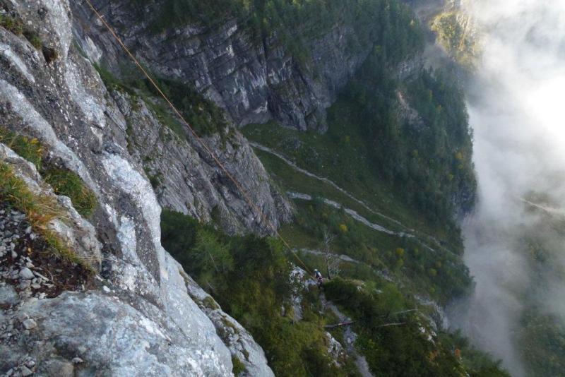 Klettersteig Seewand : Spektakuläre Übung im berüchtigten seewand klettersteig salzi.at