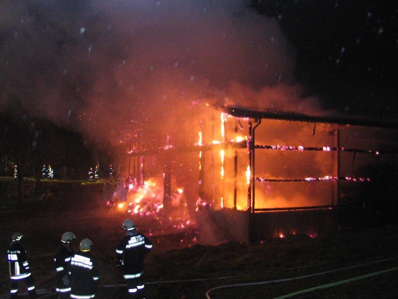 Brand einer Reithalle in Schlatt