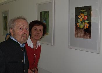 Kunst im Klinikalltag - ehemaliger Patient stellt am LKH Gmunden aus