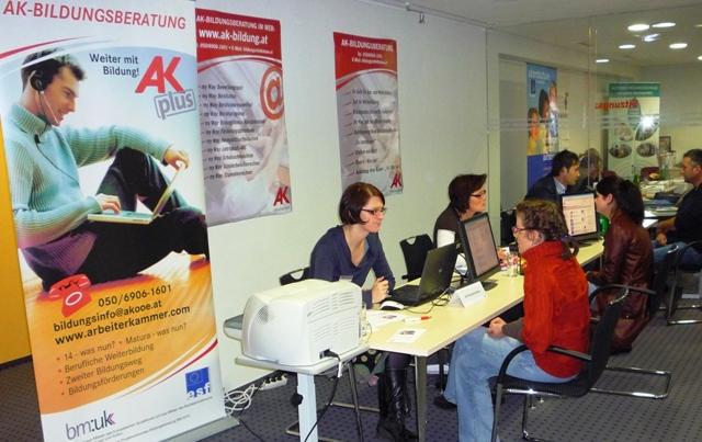"""AK-Bildungsmesse """"Weiter mit Bildung"""" in der AK Vöcklabruck   Foto: AK"""
