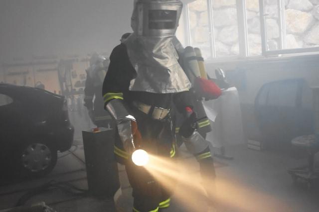 Feuerwehr übt Ernstfall
