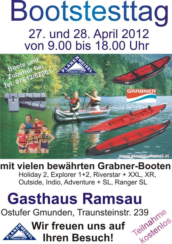 Bootstesttage beim Gasthaus Ramsau am Ostufer des Traunsee