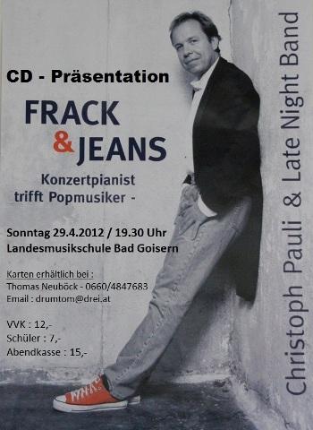 """Frack & Jeans"" Konzertpianist trifft Popmusiker in der Landesmusikschule Bad Goisern"