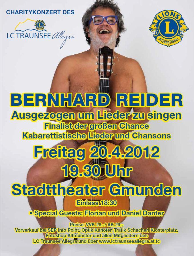 Liedermacher Bernhard Reider erstmals am Traunsee