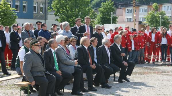 Spatenstich zur neuen Rotkreuzdienststelle Ebensee am Salinenareal