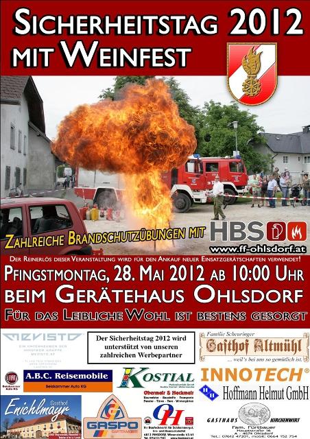 Feuerwehr Ohlsdorf lädt zum traditionellen Sicherheitstag mit Weinfest