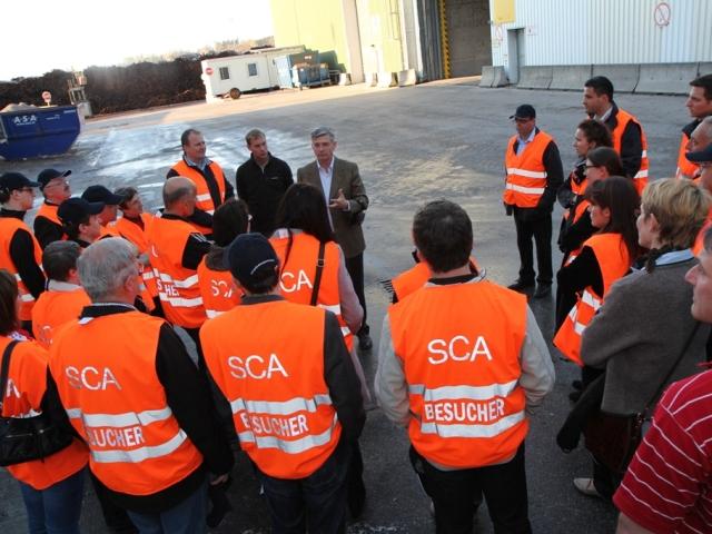 Junge Wirtschaft zu Gast bei der SCA Graphic Laakirchen AG