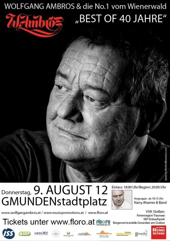 Wolfgang Ambros spielt live in Gmunden - Salzkammergut goes Spielberg