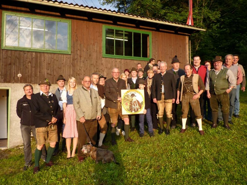 58 Schützen beim Gedenkschießen des Kranzlschützenverein Ebensee