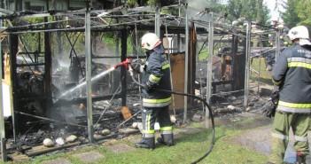 Wohnwagen auf Campingplatz abgebrannt - 35.000 Euro Schaden