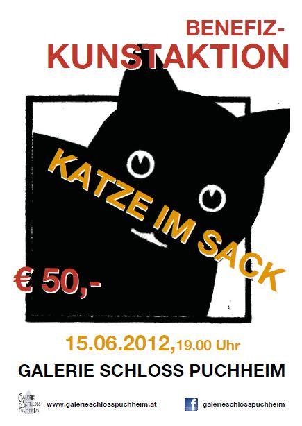 """Lions Kunstaktion """"Katze im Sack"""" in der Galerie Schloss Puchheim"""