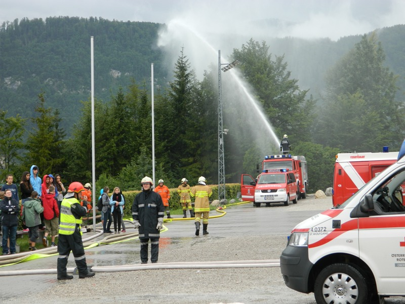 Großübung am Wolfgangsee - Brand im Ferienhort Ried
