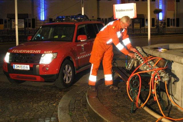 Bad Goisern: Feuerwehr sichert Trinkwasser-Versorgung