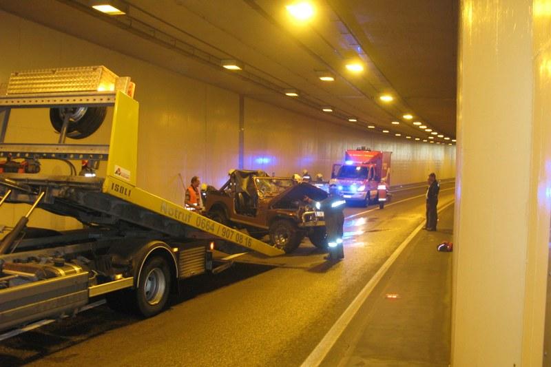 St. Georgen: Unfall im Umfahrungstunnel