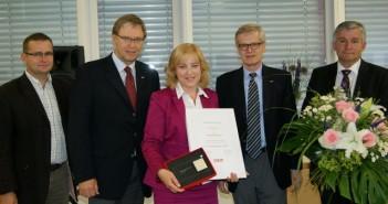 Wirtschaftsmedaille der WKO Oberösterreich in Silber an Monika Kempinger