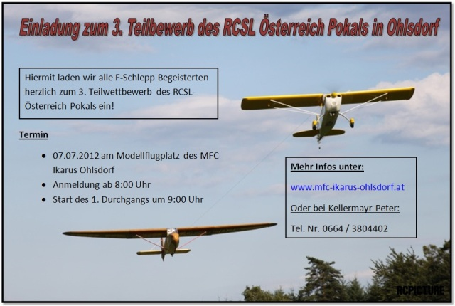 RC-SL Segelschlepp-Wettbewerb beim MFC-Ikarus Ohlsdorf