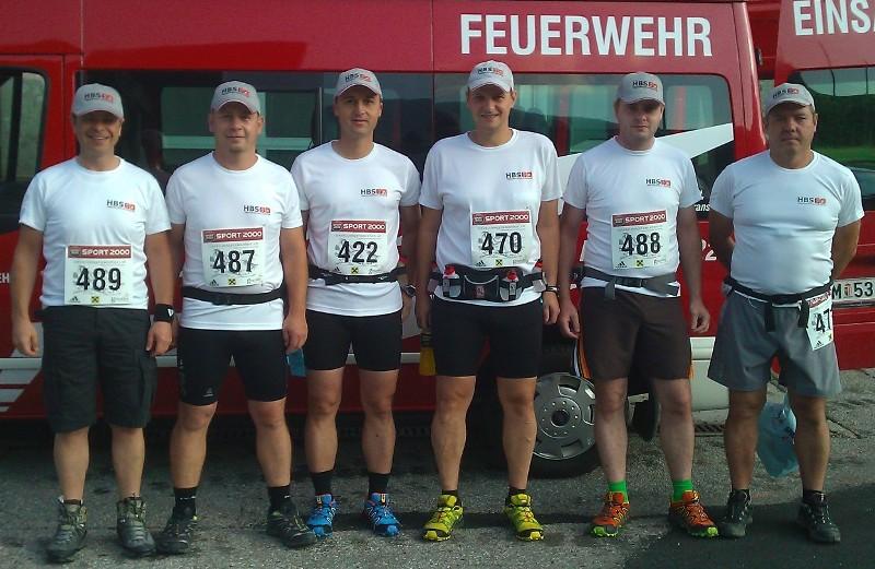 Feuerwehren Ohlsdorf und Wiesen im HBS-Team beim Bergmarathon
