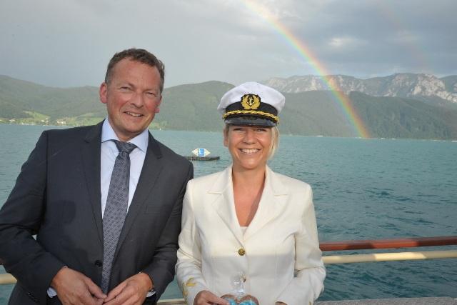 Exklusive Klimt-Schifffahrt unterm Regenbogen