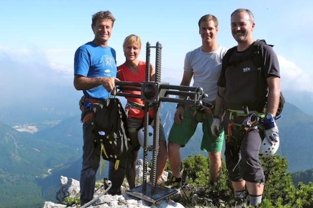 Ebensee: Klettersteig Hochkogel der Naturfreunde Ebensee offiziell eröffnet