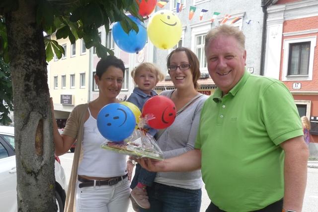"""Leonie's """"Park & Smile-Luftballon"""" wurde in Attnang-Puchheim gefunden"""