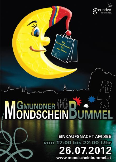 Gmundner Mondscheinbummel lädt ein zum Shoppen, Flanieren und Gustieren
