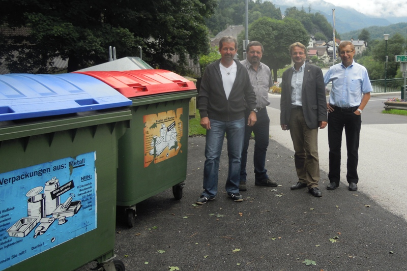 Bad Ischl: Müllsammelinsel wird auch Ortszentrum verlagert