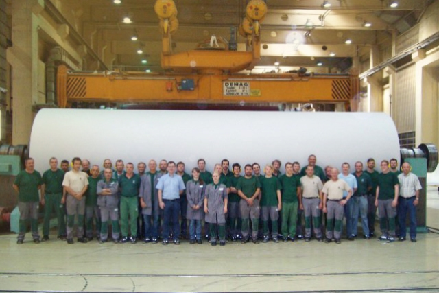 Sechs Millionen Tonnen Papier produziert
