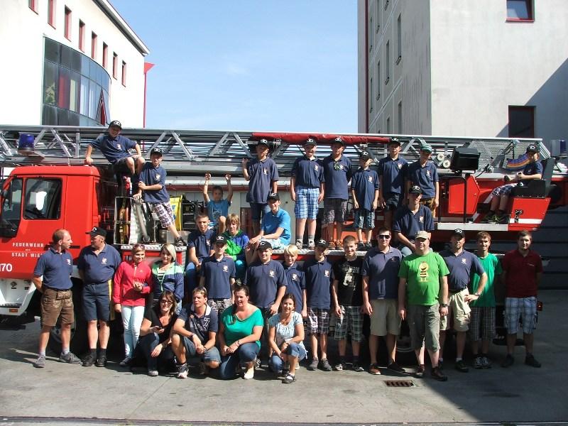 Feuerwehrjugend Viechtwang zu Gast bei der Berufsfeuerwehr Wien-Floridsdorf
