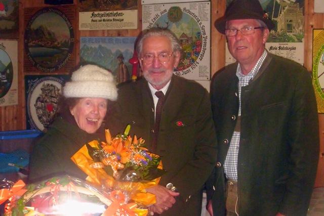 Kranzlschützenverein Ebensee gratuliert Helmut Rainer