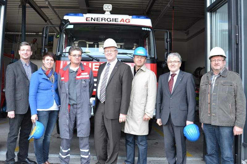 Friedrich Bernhofer besucht Betriebsfeuerwehr der Energie AG Timelkam