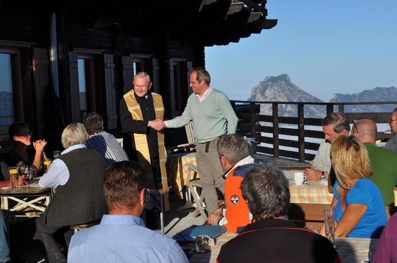Pfarrer Dr. Johann Grausgruber mit Wolfgang Gröller