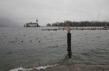 Traunsee: Starkregen lässt Pegelstände rapide ansteigen