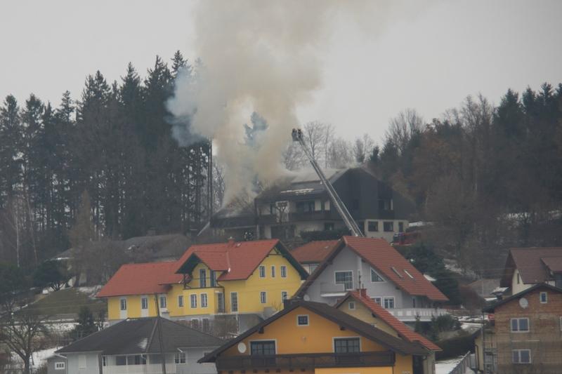 Wohnhausbrand in Wolfsegg am Hausruck