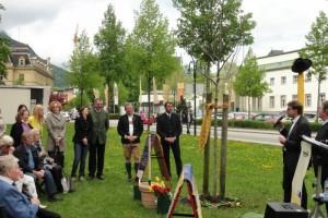 Ein Nussbaum in Bad Ischl weist auf Parkinson hin - Parkinsonselbsthilfe macht auf sich aufmerksam