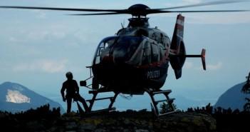 Hubschrauber rettet Wanderer vom Schafberg