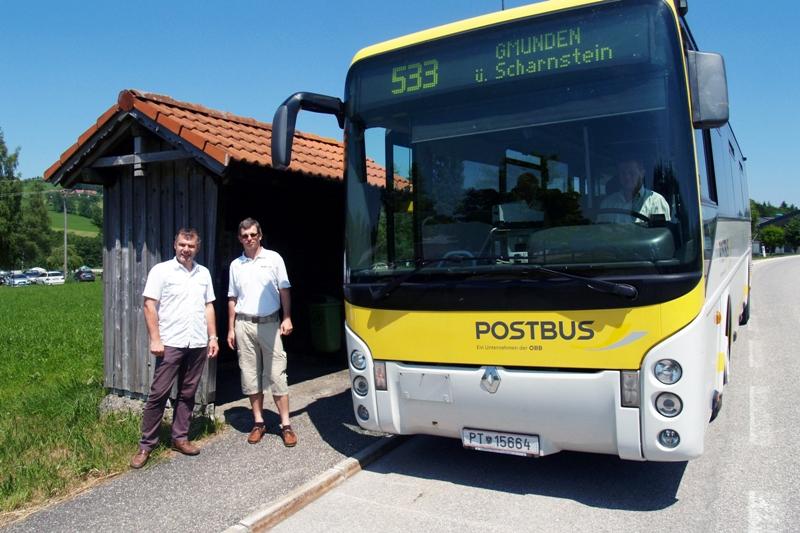 Mit dem Postbus zum Badesee St. Konrad