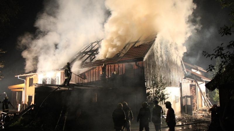 Brand landwirtschaftliches Gebäude in Pfaffing