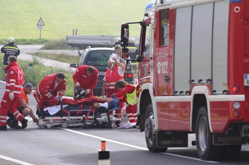 St. Konrad: schwerer Motorradunfall auf der B120