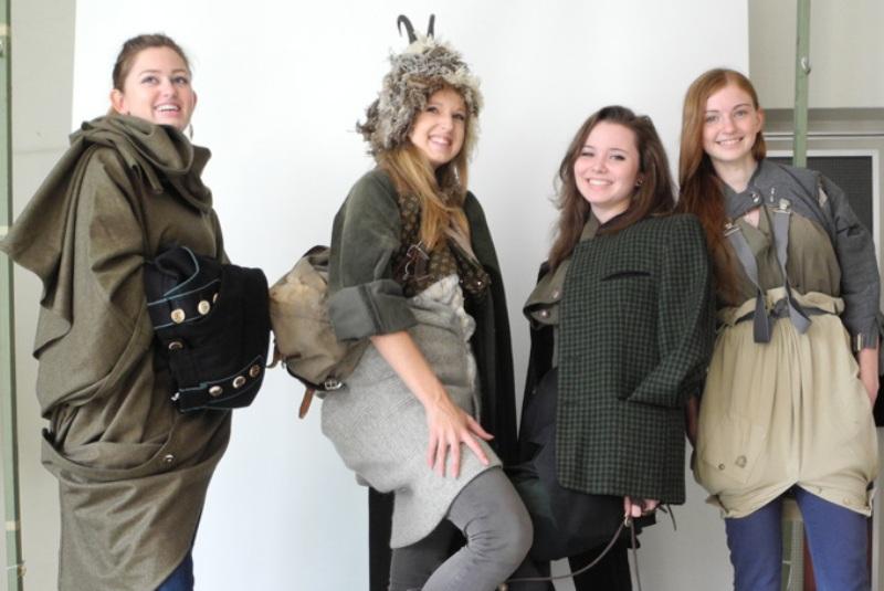 Upcycling-Projekt von Bundesforsten und der Höheren Lehranstalt für Mode Ebensee