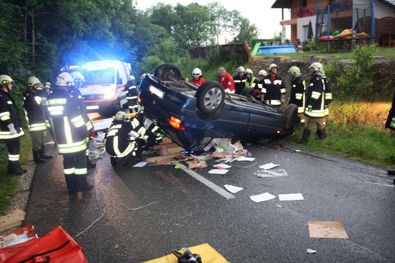 Folgenschwerer Unfall im Bubenland bei Desselbrunn