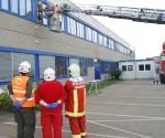 Feuerwehr Vorchdorf übt bei Miba Sinter Austria