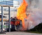 Oberweis: Lastwagen stand in Vollbrand