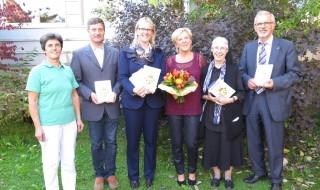 vlnr: PDL Gabriele Hofstätter, PDL Alois Racher, HL Mag. Margit Hollerweger, Sonja Auböck, Sr. Elsbeth Berghammer, Dr. Günter Jakobi