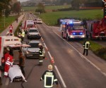 Schwerer Verkehrsunfall auf der B145 in Altmünster (6)