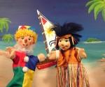 Friedburger Puppenbühne.Kasperl auf der Kokosnuss-Insel